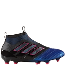 Adidas ACE 17+ Purecontrol Youth FG Soccer Cleats (Black/White/Blue) |  Adidas Soccer Cleats |FREE SHIPPING| Adidas BA9819 |  SOCCERCORNER.COM