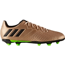 Adidas Messi 16.3 Youth FG Soccer Cleats (Copper Metallic/Black/Solar Green) |  Adidas Soccer Cleats | FREE SHIPPING | Adidas BA9843 |  SOCCERCORNER.COM