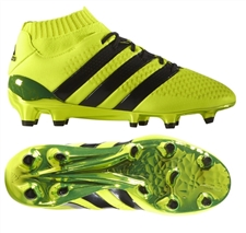 Adidas ACE 16.1 Primeknit Youth FG Soccer Cleats (Solar Yellow/Core Black/Silver Metallic) |  Adidas Soccer Cleats |FREE SHIPPING| Adidas BB0782 |  SOCCERCORNER.COM