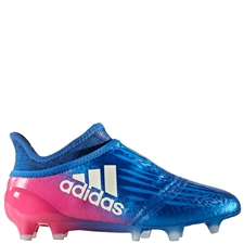 Adidas X 16+ Purechaos Youth FG Soccer Cleats (Blue/White/Shock Pink) | Adidas Soccer Cleats |FREE SHIPPING| Adidas BB5690 |  SOCCERCORNER.COM