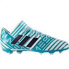 Adidas Nemeziz Messi 17.3 Youth FG Soccer Cleats (White/Legend Ink/Energy Blue) |  Adidas Soccer Cleats |FREE SHIPPING| Adidas BY2411 |  SOCCERCORNER.COM