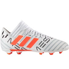 Adidas Nemeziz Messi 17.3 Youth FG Soccer Cleats (White/Solar Orange/Clear Grey) |  Adidas Soccer Cleats |FREE SHIPPING| Adidas BY2412 |  SOCCERCORNER.COM