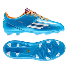 Adidas F10 TRX FG Youth Soccer Cleats (Solar Blue/Running White/Solar Zest)