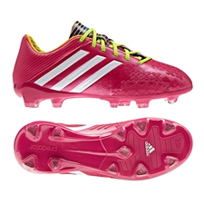 Adidas Predator LZ TRX FG Youth Soccer Cleats (Vivid Berry/Running White/Solar Slime)