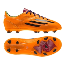 Adidas Soccer Cleats |FREE SHIPPING| Adidas F32732| Adidas F50 adizero (Synthetic) Youth TRX FG Soccer Cleats (Solar Zest/Black/Blast Purple) |
