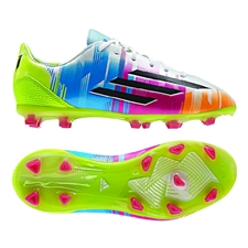 Adidas Soccer Cleats |FREE SHIPPING| Adidas F32927 | Adidas F50 adizero-Messi  (Synthetic) Youth TRX FG Soccer Cleats (White/Black/Solar Slime)