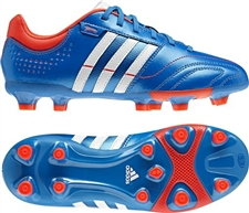 Adidas 11Nova TRX FG Youth Soccer Cleats (Bright Blue/Running White/Infrared)