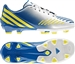 Adidas Predator Absolado LZ TRX FG Youth Soccer Cleats (Running White/Vivid Yellow/Prime Blue)