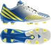 Adidas Predator Absolion LZ TRX FG Youth Soccer Cleats (Running White/Vivid Yellow/Prime Blue)