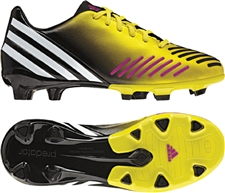 Adidas Predator Absolion LZ TRX FG Youth Soccer Cleats (Vivid Yellow/Running White/Vivid Pink)