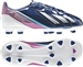 Adidas F10 TRX FG Youth Soccer Cleats (Dark Blue/Running White/Vivid Pink)