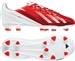 Adidas F10 TRX FG Youth Messi Soccer Cleats (Running White/Black/Dark Orange)