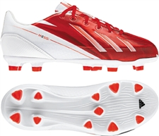 Adidas Youth F30 MESSI TRX FG Soccer Cleats (Running White/Black/Dark Orange)