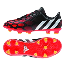 Adidas Predator Absolado Instinct FG Youth Soccer Cleats (Core Black/Core White/Solar Red)