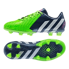 Adidas Predator Instinct FG Youth Soccer Cleats (Rich Blue/White/Solar Green)