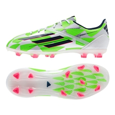Adidas F50 adizero (Synthetic) Youth TRX FG Soccer Cleats (White/Rich Blue/Solar Green) |  Adidas Soccer Cleats |FREE SHIPPING| Adidas M17691|  SOCCERCORNER.COM