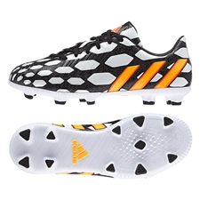 Adidas Predator Absolado Instinct Battle Pack TRX FG Youth Soccer Cleats (Core White/Solar Gold/Black)
