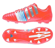 Adidas Nitrocharge 3.0 TRX FG Youth Soccer Cleats (Solar Red/Metallic Silver)