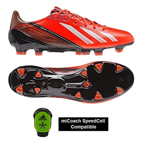 Adidas Soccer Cleats |FREE SHIPPING| Adidas Q33844 | Adidas F50 adizero (Synthetic) Youth TRX FG Soccer Cleats (Infrared/Running White/Black) |