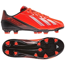 Adidas F10 TRX FG Youth Soccer Cleats (Infrared/Running White/Black)
