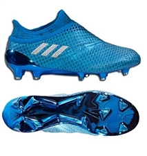 Adidas Messi 16+ PureAgility Youth FG Soccer Cleats (Shock Blue/Silver Metallic)