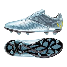 Adidas Messi 15.3 Youth FG/AG Soccer Cleats (Matte Ice Metallic/Bright Yellow/Black) |  Adidas Soccer Cleats |FREE SHIPPING| Adidas S81493|  SOCCERCORNER.COM