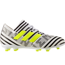 Adidas Nemeziz 17.1 Youth FG Soccer Cleats (White/Solar Yellow/Core Black) |  Adidas Soccer Cleats |FREE SHIPPING| Adidas S82417 |  SOCCERCORNER.COM