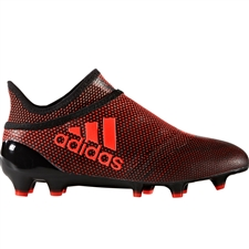 Adidas X 17+ PureSpeed Youth FG Soccer Cleats (Core Black/Solar Red/Solar Orange) | Adidas Soccer Cleats |FREE SHIPPING| Adidas S82452 |  SOCCERCORNER.COM