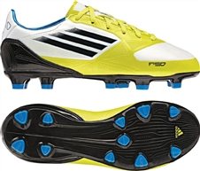 Adidas F30 TRX FG Youth Soccer Cleats (Running White/Black/Lab Lime)