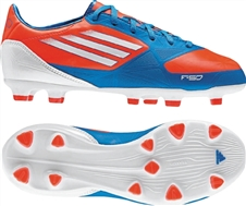 Adidas F30 TRX FG Youth Soccer Cleats (Infrared/Running White/Bright Blue)