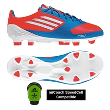 Adidas F50 adizero (Synthetic) TRX FG Youth Soccer Cleats (Infrared/Running White/Bright Blue)