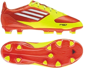 Adidas F30 TRX FG Youth Soccer Cleats (High Energy/Electricity/White)