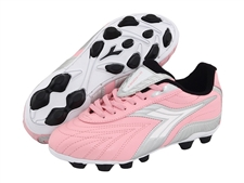 Diadora Furia MD Youth Soccer Cleats (Pink/Charcoal)