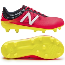 New Balance Furon 2.0 Dispatch FG Youth Soccer Cleats (Bright Cherry/Galaxy/Firefly)