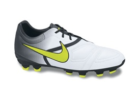 Nike CTR360 Libretto Firm Ground Junior Soccer Cleats (White/Black/Cyber)