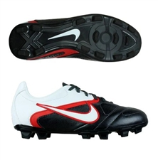 Nike CTR360 Libretto II Youth FG Soccer Cleats (Black/Challenge Red/White)