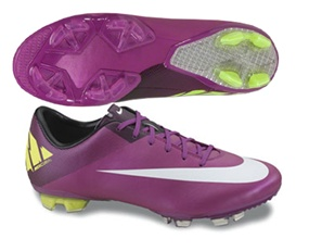 Nike Mercurial Vapor VII FG Youth  Soccer Cleats (Red Plum/Volt/Black/Windchill)