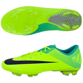 Nike Mercurial Vapor VII FG Youth  Soccer Cleats (Volt/Retro/Imperial Purple)