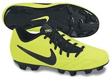 Nike T90 Shoot IV FG Youth Soccer Cleats (Volt/Citron/Black)