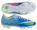 Nike Youth Mercurial Victory IV FG Soccer Cleats (Neptune Blue/Tide Pool Blue/Pink Flash/Volt)