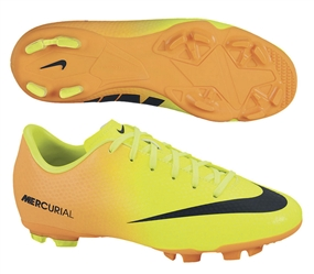Nike Youth Mercurial Victory IV FG Soccer Cleats (Volt/Bright Citrus)
