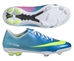 Nike Youth Mercurial Vapor IX FG Soccer Cleats (Neptune Blue/Tide Pool Blue/Pink Flash/Volt)