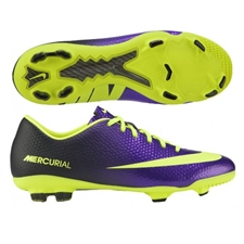 Nike Youth Mercurial Vapor IX FG Soccer Cleats (Electro Purple/Black/Volt)