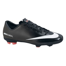 Nike Youth Mercurial Veloce FG Soccer Cleats (Black/White/Dark Charcoal/Atomic Red)