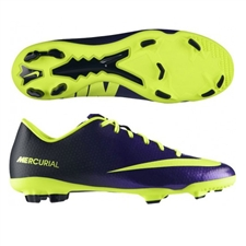 Nike Youth Mercurial Veloce FG Soccer Cleats (Electro Purple/Black/Volt)