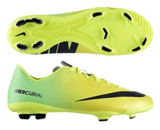 Nike Youth Mercurial Veloce FG Soccer Cleats (Vibrant Yellow/Black/Neo Lime)