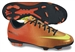Nike Youth Mercurial Veloce FG Soccer Cleats (Sunset/Total Crimson/Volt)