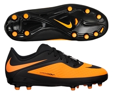 Nike Hypervenom Phelon Youth Soccer Cleats (Black/Black/Bright Citrus)