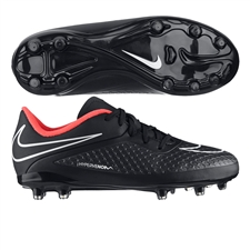 Nike Hypervenom Phelon Youth Soccer Cleats (Black/Hyper Punch/White)