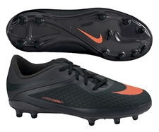 Nike Hypervenom Phelon Youth Soccer Cleats (Dark Charcoal/Black/Total Crimson)